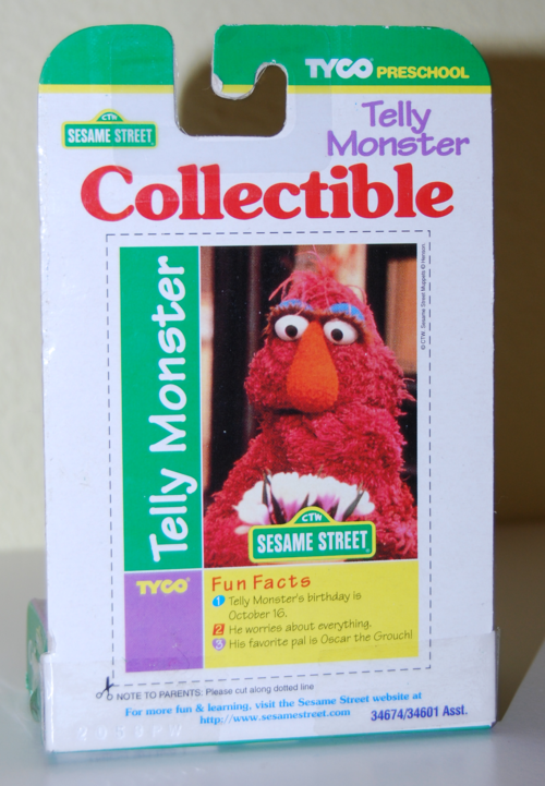 Tyco collectible figure telly monster x