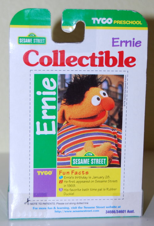 Tyco collectible figure ernie x