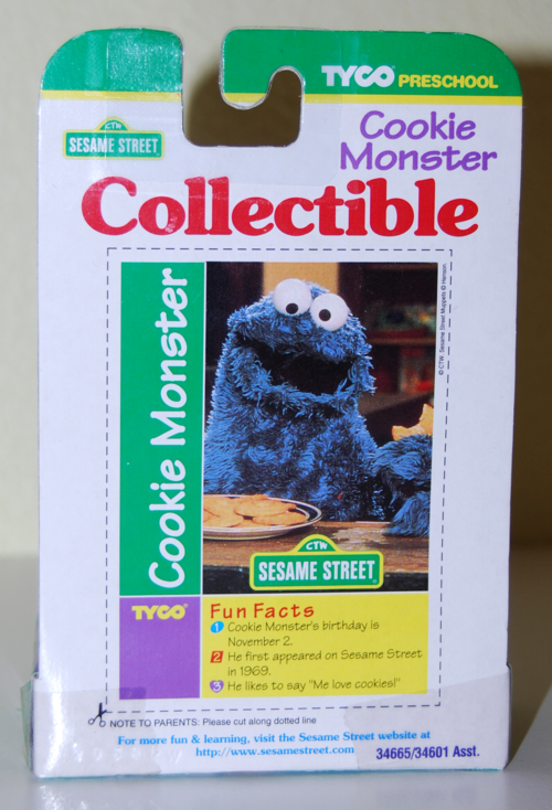 Tyco collectible figure cookie monster x