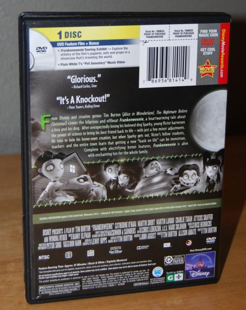 Frankenweenie dvd x