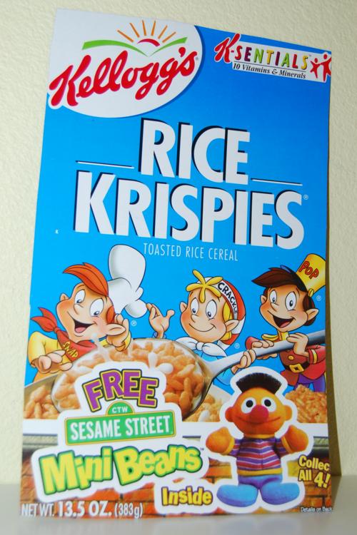 Kellogg's mini beans sesame street cereal box 1