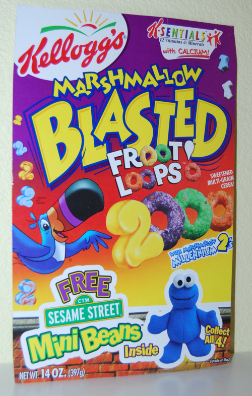 Kellogg's mini beans sesame street cereal box 4