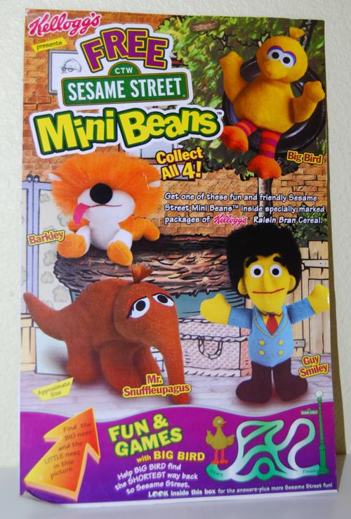 Kellogg's mini beans sesame street cereal box 9