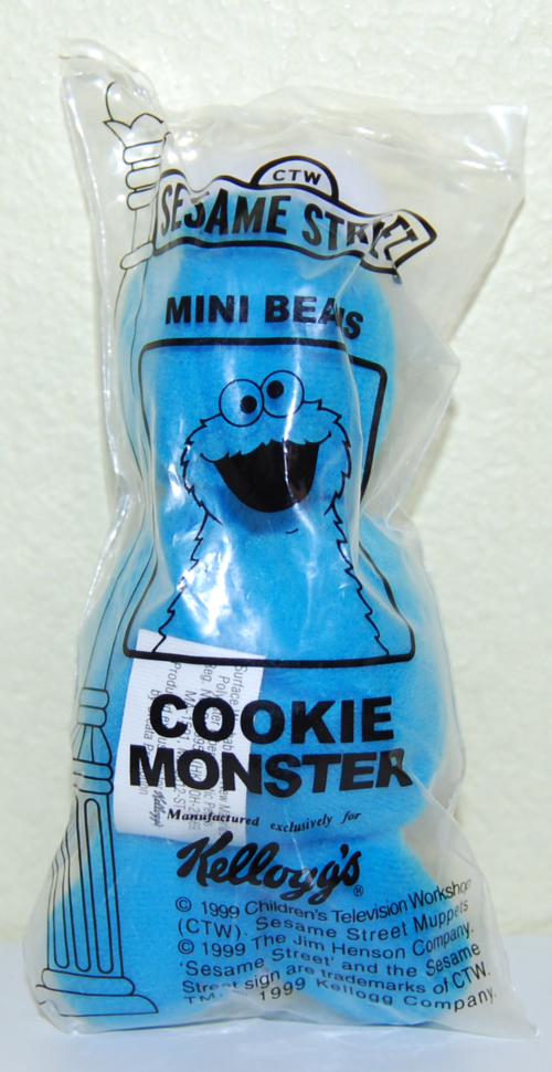 Sesame street mini beans cookie monster x
