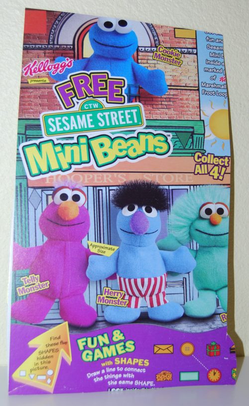 Kellogg's mini beans sesame street cereal box 7