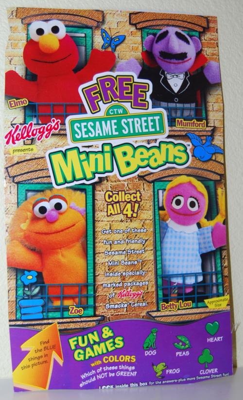 Kellogg's mini beans sesame street cereal box 8