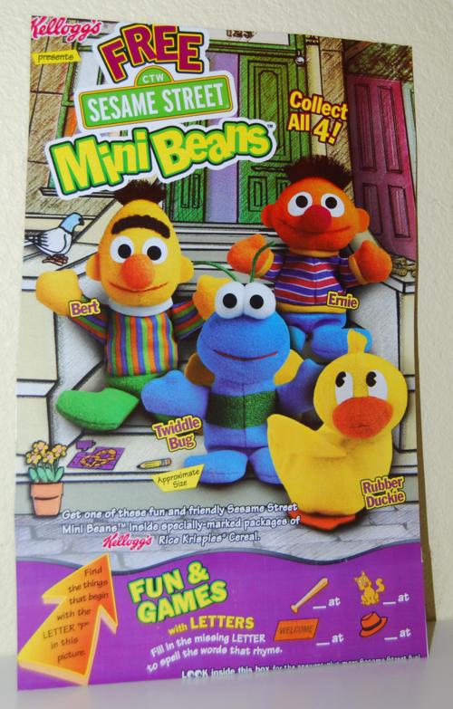 Kellogg's mini beans sesame street cereal box 5