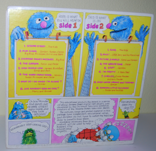 Sesame street 2 book & record 1