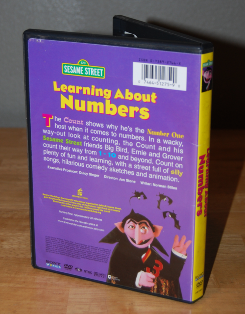 Sesame street learning about numbers dvd x