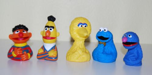 Vintage sesame street finger puppets