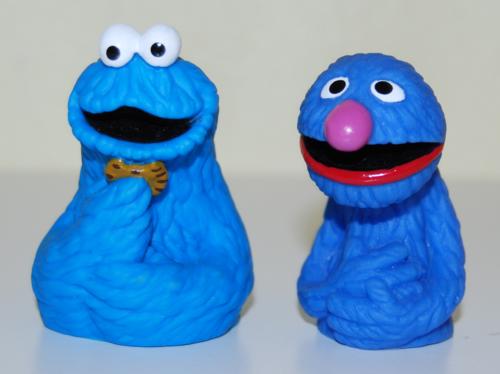 Vintage sesame street finger puppets 3