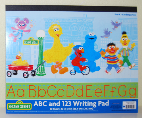Sesame street writing pad