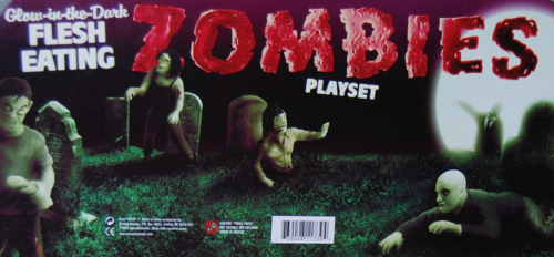 Glow in the dark zombie playset 2007 accoutrements x