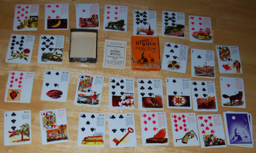 Gypsy witch fortune telling cards all