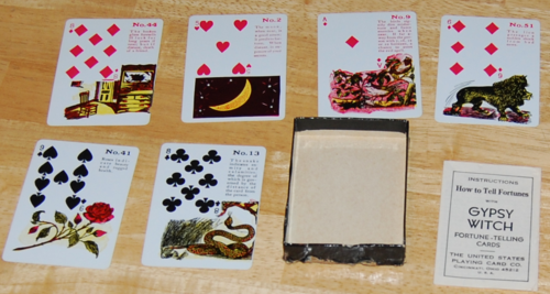 Gypsy witch fortune telling cards 1