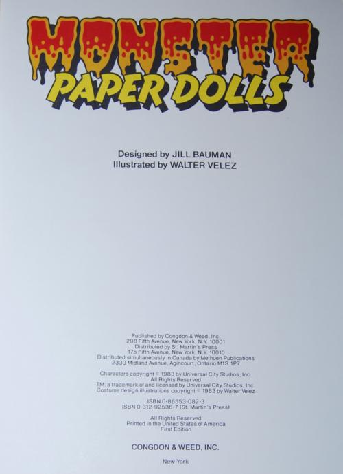 Monster paperdolls 2