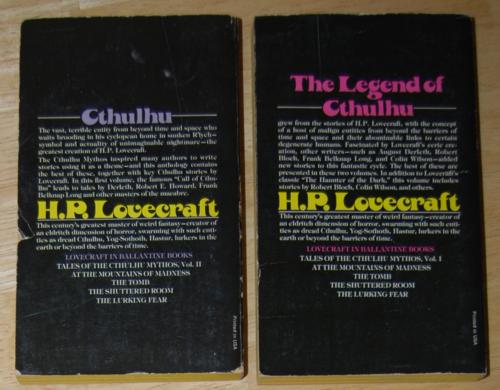 Lovecraft paperbacks 1975 2