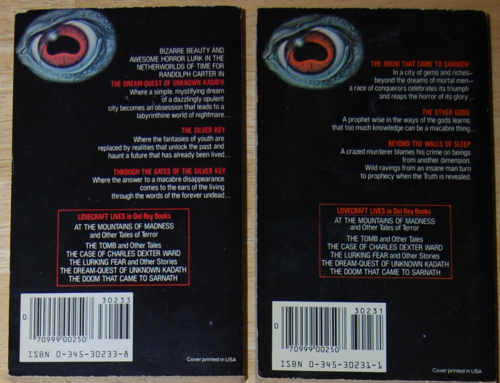 Lovecraft paperbacks 1983 2