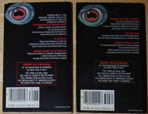 Lovecraft paperbacks 1983 2