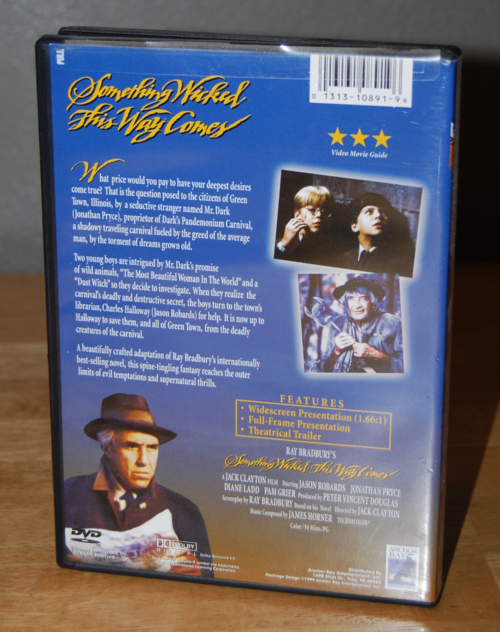 Something wicked this way comes dvd x