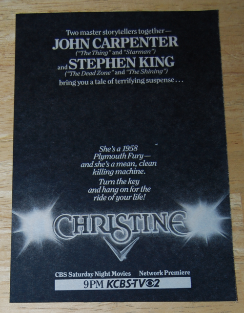 Christine tv ad