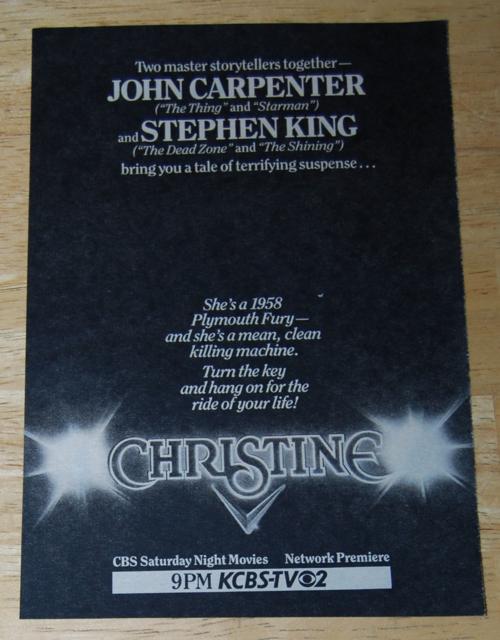 Christine tv ad