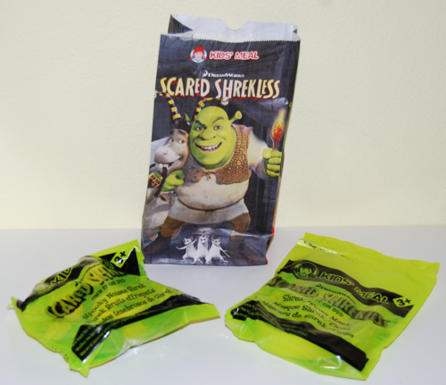 Scared shrekless wendy's kids meal toy
