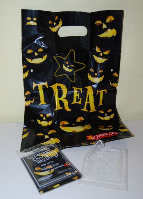 Carls jr 2013 halloween treat bag