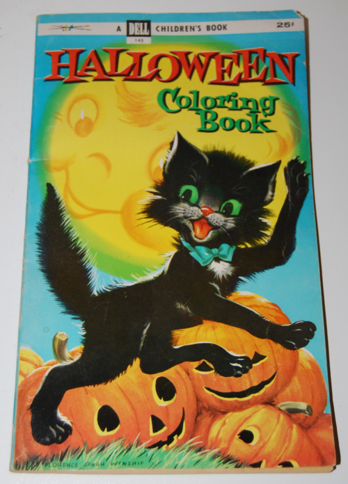 1955 dell halloween coloring book