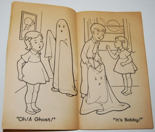 1955 dell halloween coloring book 3