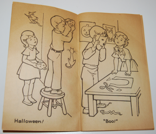 1955 dell halloween coloring book 2