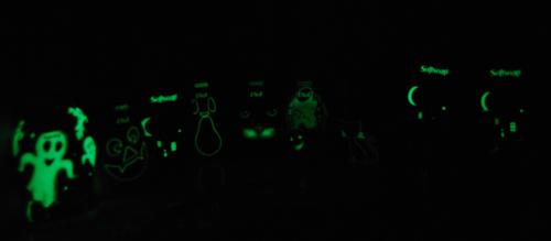 Halloween glow in the dark soapbottles