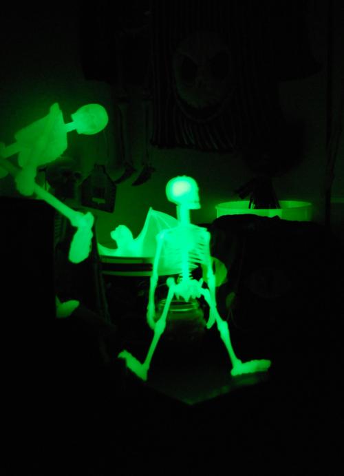 Glow in the dark skeletons