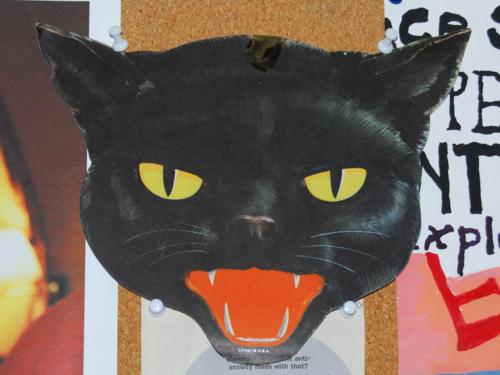 Vintage dennison black cat deco