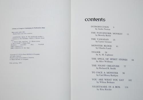 Baleful beasts & eerie creatures 1976