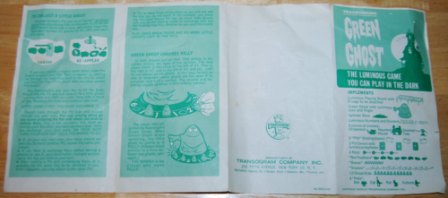 Transogram green ghost game 1965 6