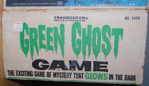 Transogram green ghost game 1965 box 3