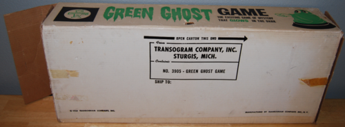 Transogram green ghost game 1965 box 5