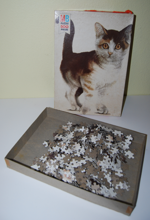 Vintage mb kitty puzzle 1