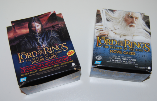 Lord of the rings collector card boxes