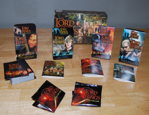 Lord of the rings collector card sets x