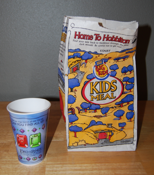 Lord of the rings kids meal burger king