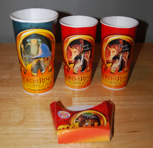Lord of the rings cups burger king