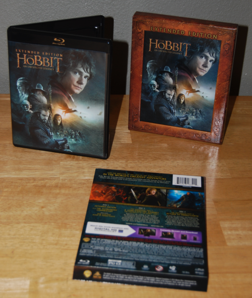 Hobbit extended edition bluray