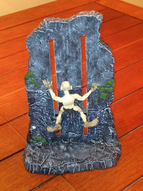 Gollum rock climbing toy