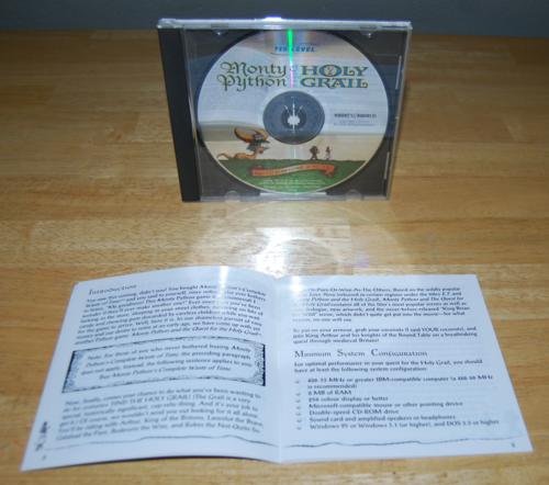 Monty python holy grail cd rom x
