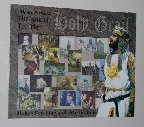 Monty python holy grail tin sign