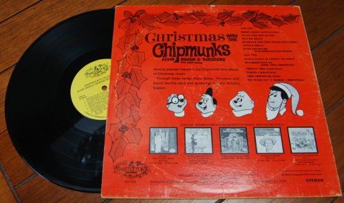 Xmas with the chipmunks vinyl x