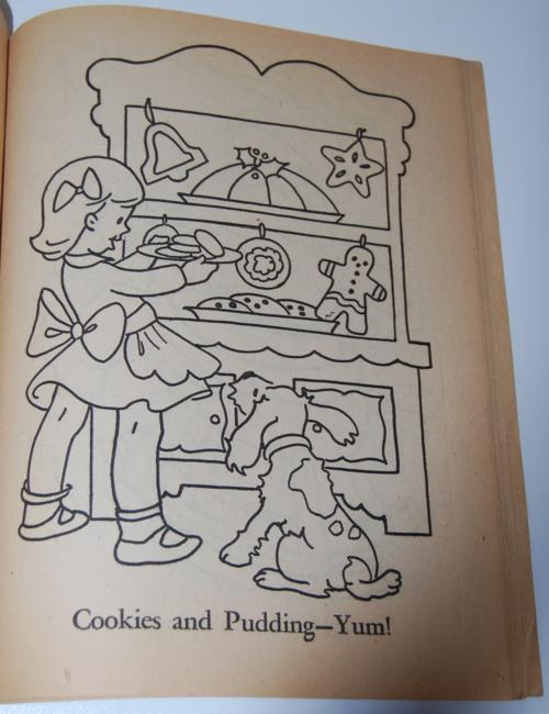 Dell 1953 santa claus coloring book 4
