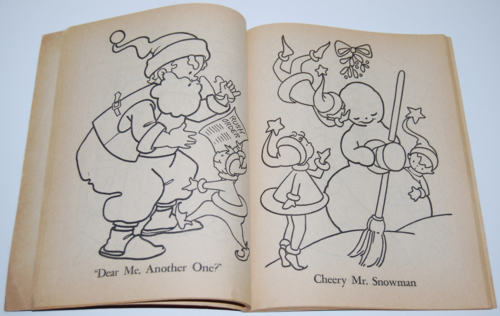 Dell 1953 santa claus coloring book 7